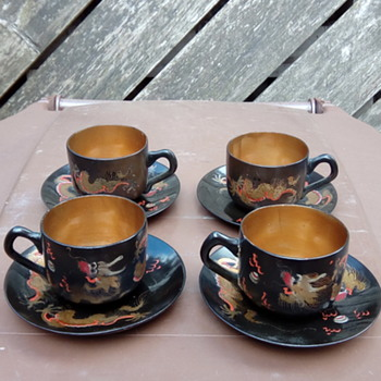 My lacquer cups and saucer's set