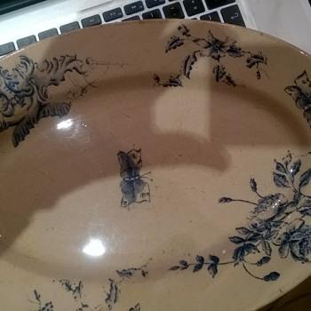 """""""art nouveau"""" plate"""