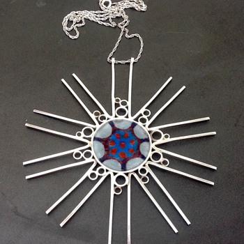 Norman Grant Silver, Enamel Pendant/Necklace - Fine Jewelry