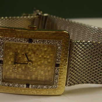 18k Gold & Platinum Le Coultre Art Deco Wrist Watch