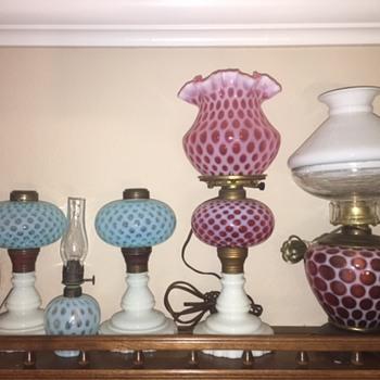 Antique Fenton & Hobbs Oil Lamps - Lamps