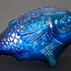 CVB Barfede Cobalt Glass Fish Shaped Wine Bottle - 1960s?