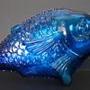 Giunti (?) for CVB Barfede, Cobalt Glass Fish Shaped Wine Bottle - 1960s