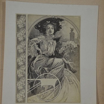 Alphonse Mucha Nude Lithograph? Folio? Prints - Posters and Prints