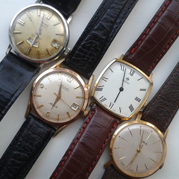 Four vintage watches. - Wristwatches