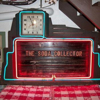 Electric Neon Clock Co. neon advertising board - Clocks