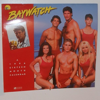 1996 Baywatch Calender - Advertising