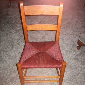 A fiber rush seated chair - Furniture