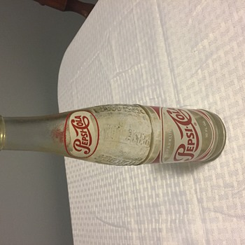 1950 glass bottle Spelled WRONG.