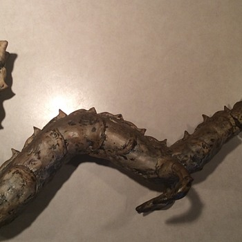 Antique Wooden Dragon with hard glazed covering - Animals