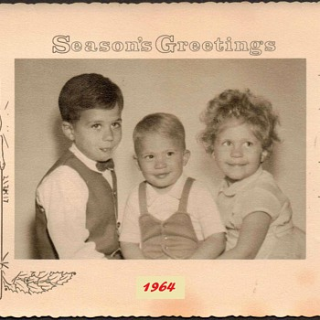 1964 - Family Christmas Photograph - Christmas