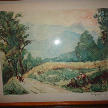 Landscape Watercolor Painting - Fine Art