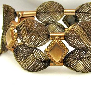 Memorial Hair Bracelet -- Chatsworth Aug 10, 1887