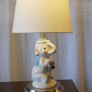 Antique Children's Elephant Lamp - Animals