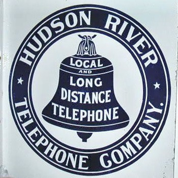 Hudson River Telephone Co. Porcelain Sign - Signs