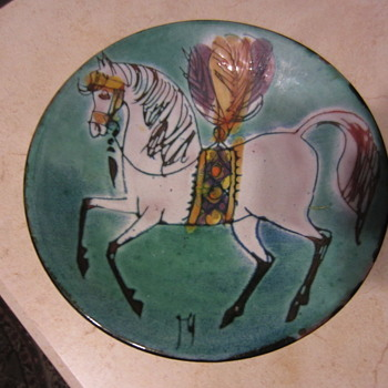 Mid Mod Circus Horse Bowl