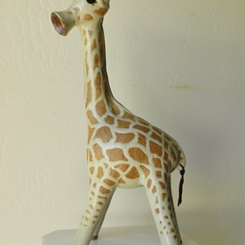 Mid/Mod Stoneware Giraffe - Danish? - Signed Deeg - Mid-Century Modern