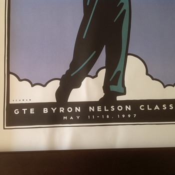 PGA Tournament GTE Byron Nelson Classic 1997 poster