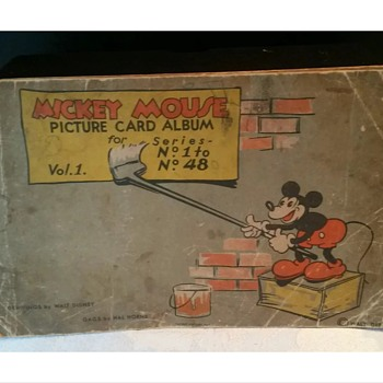 1st edition Mickey Mouse gum card book