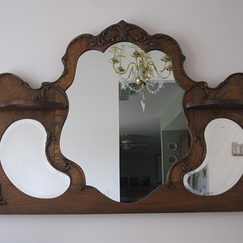 Oak Framed Mirror.