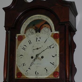John J. Parry Tall Case Clock face - Clocks
