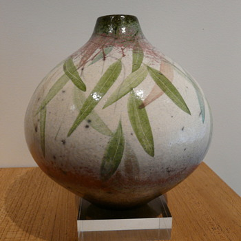 PETER HARRIS RAKU POT 1980's - Pottery