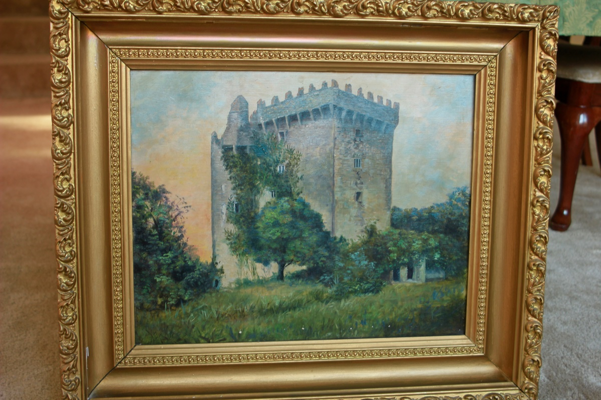Late 1800\'s Blarney Castle Oil Painting in Gold Gilded Frame ...