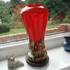 Czech Spatter Glass Vase?