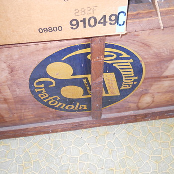 Old phonograph type box only  - Records