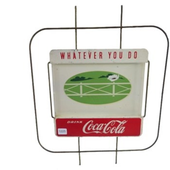 Coca-Cola Wire Frame Metal Sign - Coca-Cola