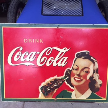 My latest addition, 1943 Coca Cola girl. - Advertising
