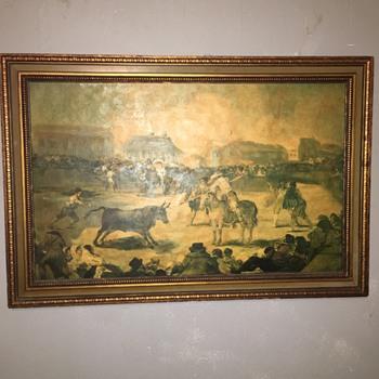 Goya bull fighting scene