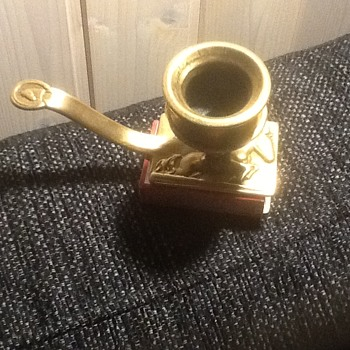 Brass candlestick holder with matchbox place - Lamps