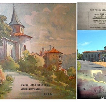 """Home In Viazac France"" by Albin'/ Stehli Freres,Editeurs, Zurich,Switerland Lithograph/Circa 1930   - Fine Art"