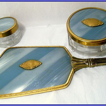 Vintage Guilloche Dresser Set