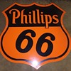NOS Phillips 66 30 inch double sided porcelain sign