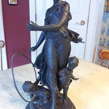 Victorian Spelter Statue by Dumaige - Victorian Era