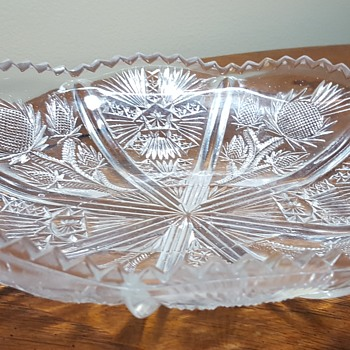 Oval Glass Dish - Glassware