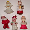 Vintage Wax Candles ~ Christmas