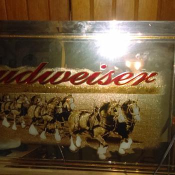 Rare Budweiser mirror - Breweriana