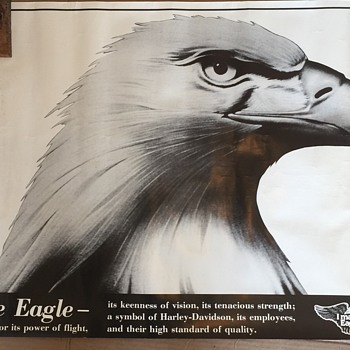 "Rare beleive to be from 1970's Harley Davidson Poster ""I MAKE THE EAGLE FLY"" - Posters and Prints"