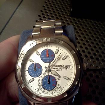 1980's Seiko V657 chronograph - Wristwatches