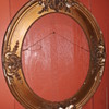 antique oval picture frame, pre-distressed