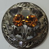 Scottish Brooch - Cairngorm Stones - Glasgow 1954 Ward Brothers