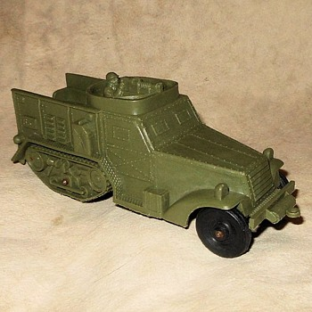 Auburn Rubber Company WWII Halftrack Circa 1960 - Model Cars