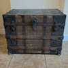 Antique trunk with rollers