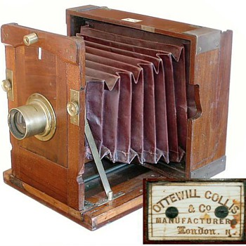 Ottewill & Collis Improved Kinnear Camera, early 1860s - Cameras