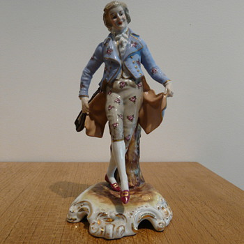 COBURG DRESDEN PORCELAIN MUSICIAN - Figurines