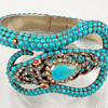 Sir Hiss -- turquoise serpent bracelet