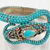 Sir Hiss -- turquoise serpent bracelet
